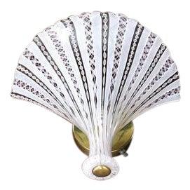 Fan Shape Italian Glass Shade Sconce