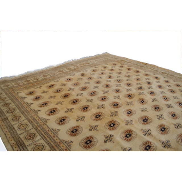 "Vintage Cream Bokhara Rug - 9'4"" x 11'6"" - Image 5 of 6"