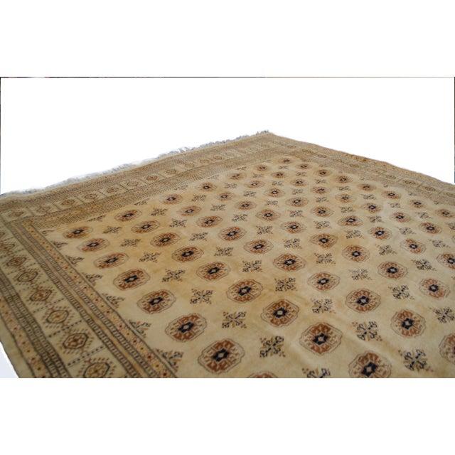 "Image of Vintage Cream Bokhara Rug - 9'4"" x 11'6"""