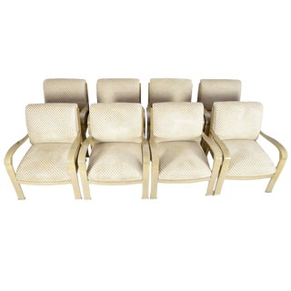 Eight J. Robert Scott Salon Deco Lounge Chairs by Sally Sirkin Lewis