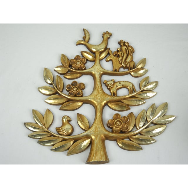 "Syroco Vintage ""Tree of Life"" Plaque - Image 5 of 8"