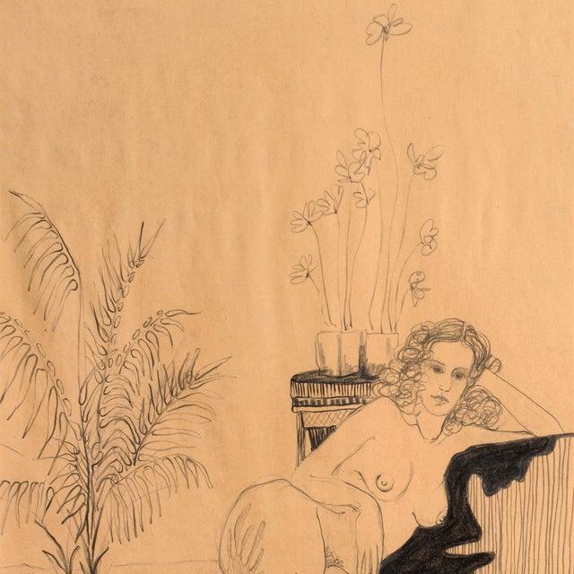 Fabian Becker Reclining Nude Drawing - Image 4 of 6