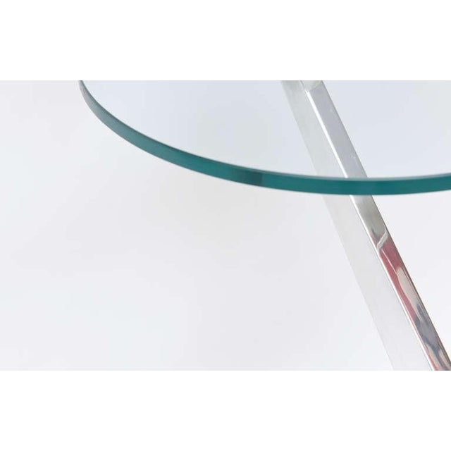 Angled Sculptural Nickel Silver, Glass and Resin Side Table - Image 6 of 10