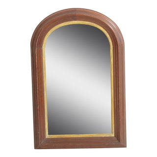 American Curve Top Walnut Mirror