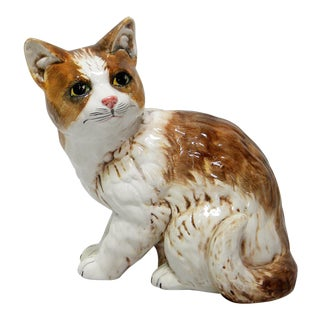Painted Ceramic Italian Cat