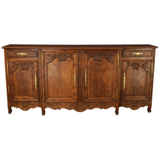 Antique Normandy Style French Carved Sideboard