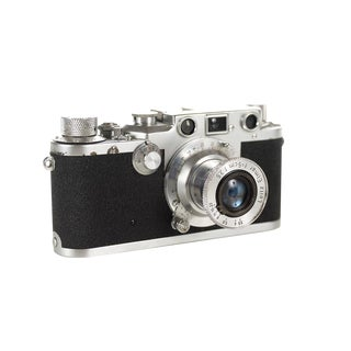Original 1949 Rangefinder Camera - Leica IIIc Shark Skin W/5cm 3.5 Elmar