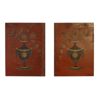 Pair of Paint Decorated Panels (#81-41)