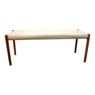 Niels Moller Danish Modern Teak Upholstered Bench