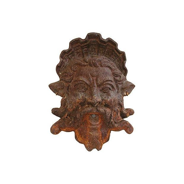 Image of Antique French Cast Iron Fountain Plaque