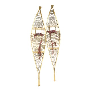 Vintage Ojibwe Snow Shoes - A Pair