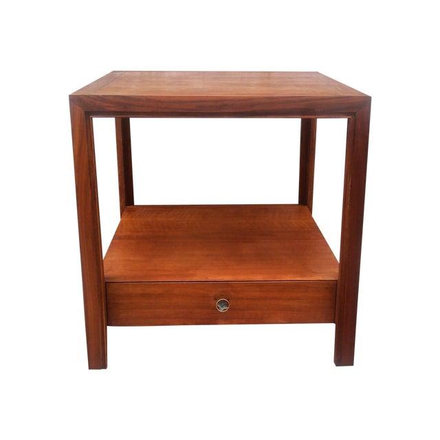 Baker Furniture Vintage 1950s Walnut End Table Chairish