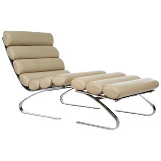 Adolf & Schropfer 'Sinus' Lounge Chair and Ottoman