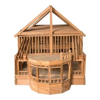 """Under Construction"", Model of Timber Framed House"
