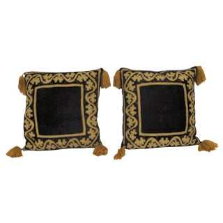 1970's Harem Velvet Pillows - A Pair