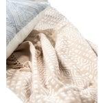 Image of Blush Pink & White Handwoven Chiapas Throw