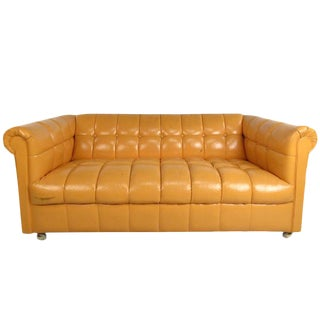 Mid-Century Modern Tufted Chesterfield Sofa