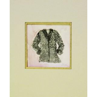 Black Furry Coat Watercolor