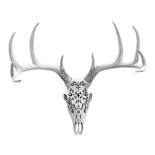 Wall Charmers Carved Decorative Deer Skull