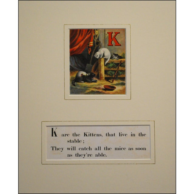 Chromolithograph Print - Kitten Alphabet 1870s - Image 1 of 2