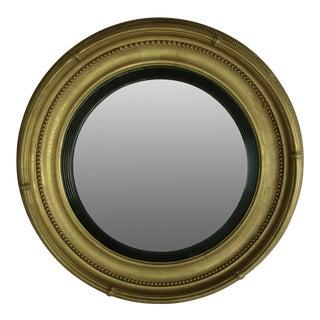 Regency Style Giltwood Convex Mirror