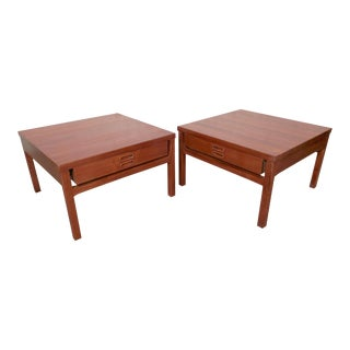 Pair of Mid-Century Wide Sofa Tables From Denmark
