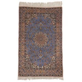 "RugsinDallas Vintage Silk & Wool Persian Isfahan Rug - 3'6"" X 5'7"""