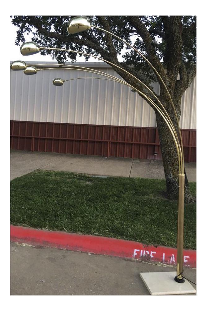arc floor lamp price 500 was 720w 150d 840h denton tx 5 arm arc floor lamp stone marble base adjustable arms 3 way switch lighting