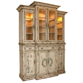 Neoclassical Two-Piece China Cabinet