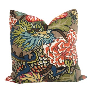Schumacher Chiang Mai Dragon Pillow Cover