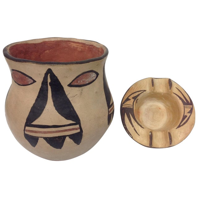 Mid-Century Indian Pottery Vase & Bowl - A Pair - Image 1 of 6