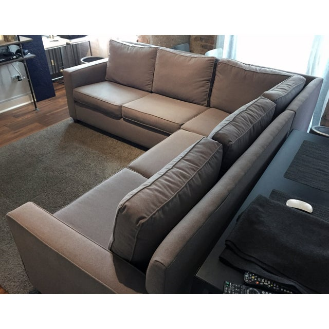 West elm henry 3 piece l shaped sectional sofa chairish for Henry sofa sectional west elm