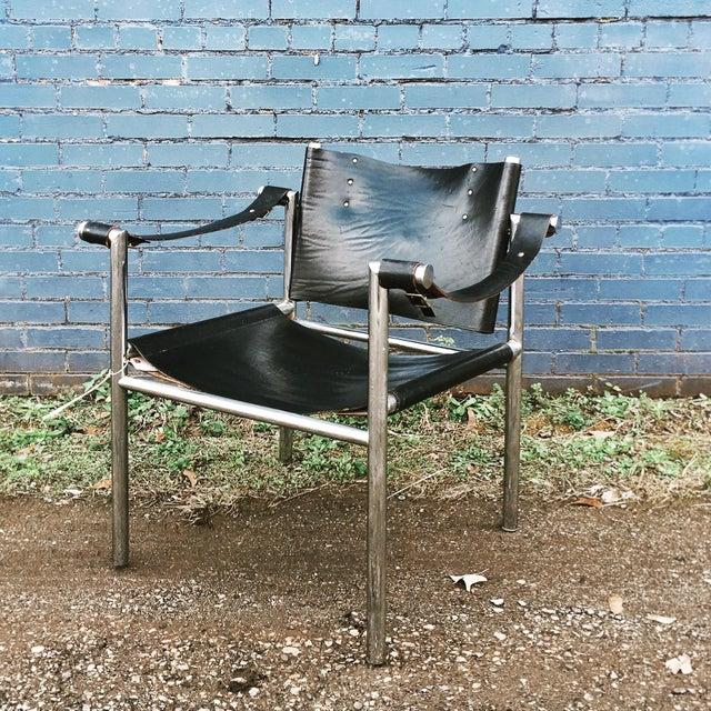 Mid Century Safari Leather Chair - Image 2 of 11