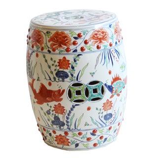 Ceramic Chinoiserie Stool