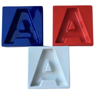 American Airlines 747 Ashtrays - Set of 3