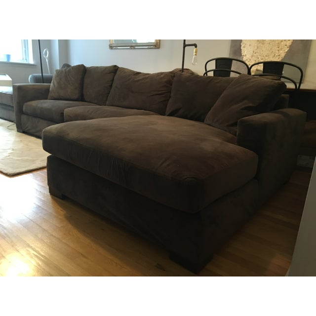 Brown Room Amp Board Metro Sectional Sofa And Chaise Chairish
