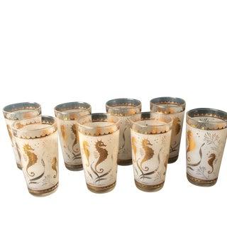 Vintage Seahorse Glasses - Set of 8