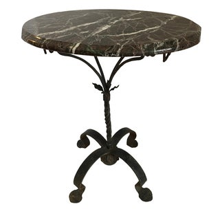 Wrought Iron Marble Side Table
