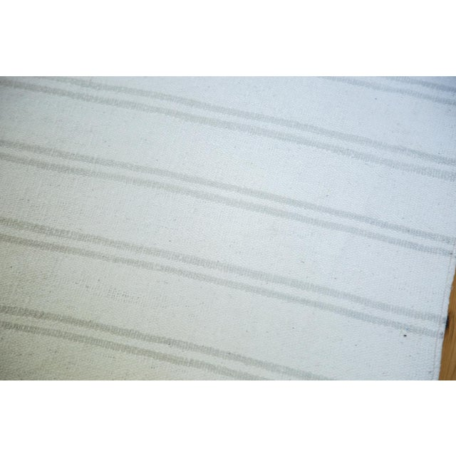 "Image of Vintage Striped Flatwoven Carpet - 10' X 10'6"""