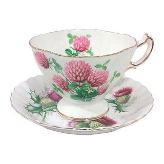 English Thistle Porcelain Cup & Saucer