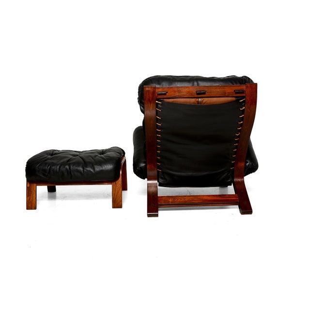 Vintage 1973 Scandinavian Rosewood Chair & Ottoman - Image 6 of 9