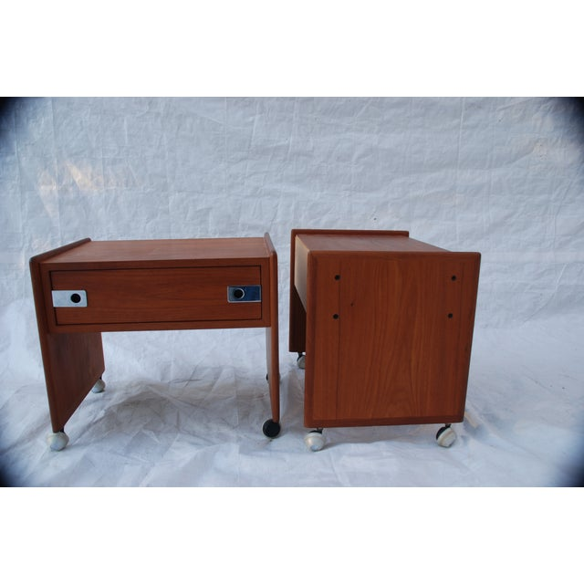 Mid Century Teak Night Stands - A Pair - Image 5 of 8