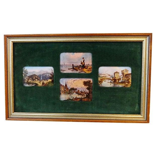 Handpainted Vignette Plaques of European Landscape - Image 2 of 8