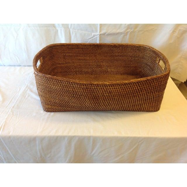 Image of Waterworks Medium Rattan Rectangular Basket