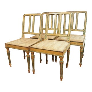 SET OF FOUR DIRECTOIRE CHAIRS