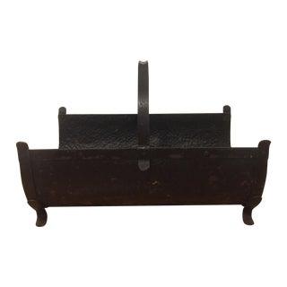 Antique Log Holder/Magazine Rack