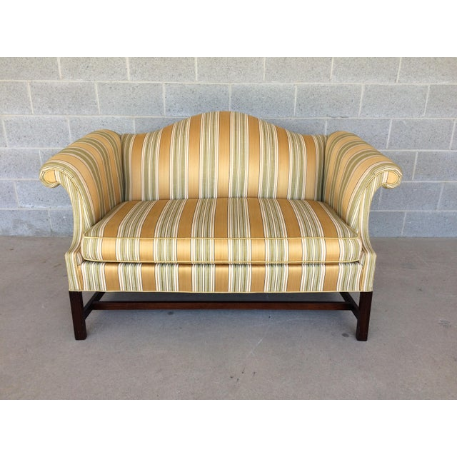 Southwood Quality Chippendale Style Camel Back Formal Loveseat Chairish