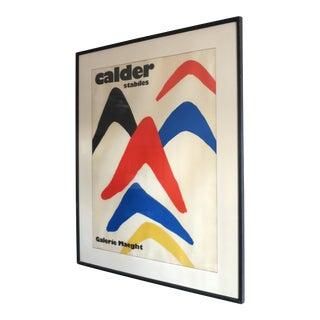 Vintage Alexander Calder 'Stabiles' Gallery Poster