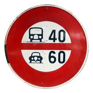 European Road Speed Sign