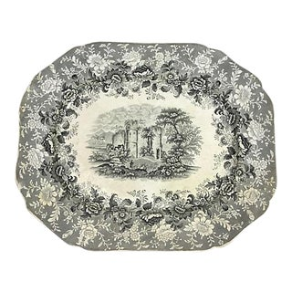 19th-c. English Transferware Platter